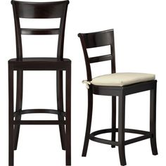 Folio Ebony Leather 30 Quot Backless Barstool Crate And