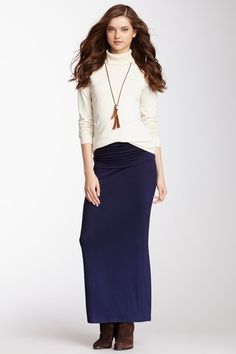 Foldover Maxi Skirt by Hourglass Lilly on @HauteLook