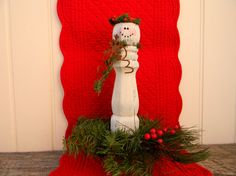 Rustic snowman Christmas Decor Country by OurLittleCountryShop