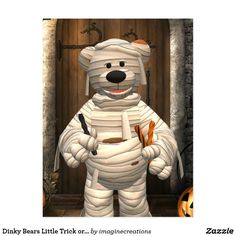 Dinky Bears Little Trick or Treat Mummy Postcard