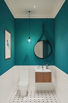 Our half bathroom ideas refer to dual sub-concepts that wrap one bathroom. This can lead to a unique look that makes the area outstanding. Read Gorgeous Half Bathroom Ideas 2020 (For Unique Bathroom) Bathroom Design Small, Bathroom Interior Design, Modern Bathroom, Bathroom Green, Bathroom Designs, Small Toilet Design, Minimal Bathroom, Colors For Small Bathroom, Small Dark Bathroom