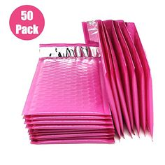 OfficeKit Pink Poly Bubble Mailers Inches Self Seal Padded Envelopes Waterproof Cushioned Envelope Bags 50 Pack