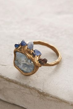 Moonvision Ring by Emilie Shapiro for Anthro | handmade | jewlery | anthropologie | raw | crystals