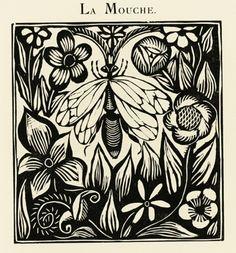 Le Bestiare Ou Cortege D'Orphee (The Book of Beasts or Procession of Orpheus.)  Guillaume Apollinaire. Illustre de Gravures sur bois par Raoul Dufy. Paris, Deplanche, 1911.