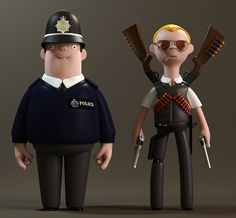 Vinyl Toys Based on Characters From Director Edgar Wright's 'Three Flavors Cornetto Trilogy' of Films