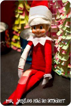 Mr. Jingles,  Elf on a Shelf has a sore arm