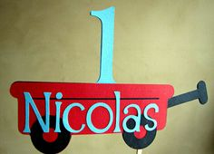 Little Red Wagon Party  Smash Cake Topper by ScrapYourStory, $10.95