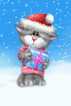 Download Animated 320x480 «Is it Christmas soon...» Cell Phone Wallpaper. Category: Cartoons