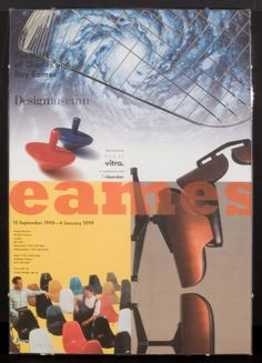 Poster for the Eames/Legacy of Invention show when it was in London.