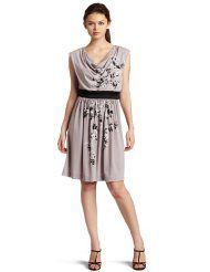 Suzi Chin Women's Cowl Neck Short Dress