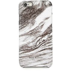 Isaac Mizrahi Marble Grey iPhone 6 Case ($20) ❤ liked on Polyvore featuring accessories, tech accessories, phone cases, phone, apple, electronics, print iphone case, apple iphone cases, pattern iphone case and iphone cover case
