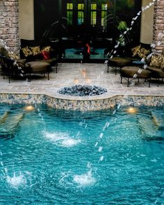 How about a deck level fire pit with deck jets for effect. We also used a travertine with a herringbone pattern. #landscape #luxury #lighting #azpools #swimmingpool #az #azhomes #azluxury #landscape_lovers #pool #swimmingpool #scottsdale #scottsdalepool #design #designinspiration