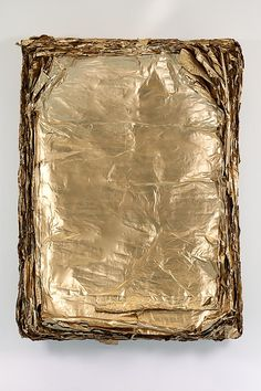 Gold Leaf on Canvas - Eric Baudart, Concave, 2013 Concave, Sculpture Textile, Stay Gold, Touch Of Gold, Gold Leaf, Textures Patterns, Feng Shui, Les Oeuvres, Abstract Art
