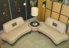 Hollywood Regency 1950s Retro Sofa | ... Modern 1950s Sectional Sofa, Kagan inspired, Regency Eames Retro era