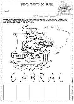 Atividade Descobrimento do Brasil Contando e Registrando | Ideia Criativa - Gi Barbosa Educação Infantil