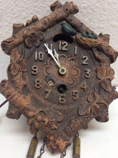 Vintage Keebler Clock Co. Miniature Cuckoo Style Clock For Repair
