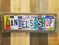 Custom Shop License Plate Sign, Garage Sign, Unique Gift for Him / Her / Man / Guy, Gift for Husband/Mechanic, Last Minute Gift OK! by JustPlateCrazy on Etsy Unique Gifts For Him, Gifts For Husband, Cave, Car Lover Gifts, Custom Garages, Garage Signs, Wheel Of Fortune, Garage Shop, Unique Christmas Gifts