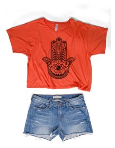 Custom festival t-shirts and tanks Festival T Shirts, Festival Looks, Festival Fashion, Denim Shorts, Crop Tops, Create, Tees, How To Make, Inspiration