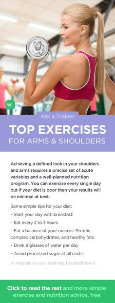 What are the top exercises for toned and muscular arms and shoulders? Nutrition Program, Nutrition Tips, Fitness Nutrition, Fitness Tips, Buddy Workouts, Summer Workouts, Gym Workouts, Health And Wellness, Health Tips
