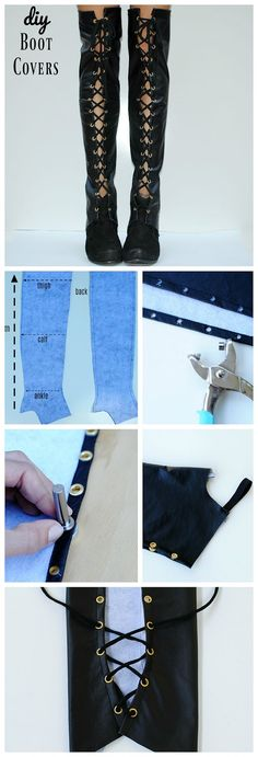 DIY Over the Knee Boot Covers