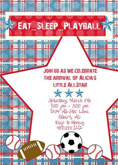 Baby Shower: Sport Themed Baby Shower Invitations To Help Your Divine Baby…