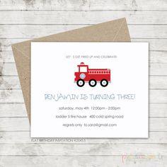 firetruck birthday invitations by petitecadeau on Etsy