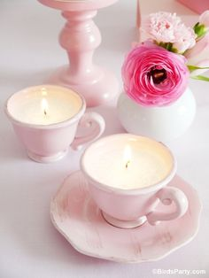 TUTORIAL: DIY Tea Candles by Bird's Party