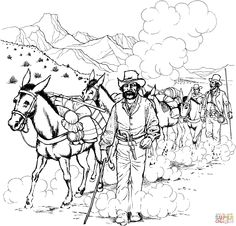Donkey Mule Coloring Page