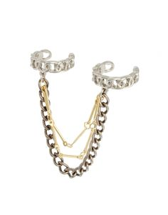 chain detail two-finger ring set #rings #chains #details #jewelry