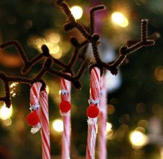 Candy Cane Reindeer Craft #christmas