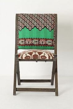 Really great folding chairs from Anthropologie!