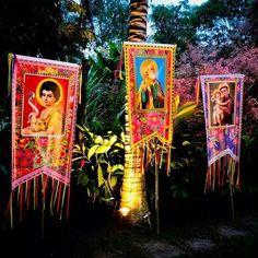 Imagens de São João, São Pedro e Santo Antônio. #festajunina #santosjuninos