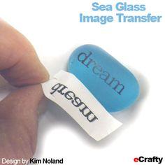 5 New DIYs: Altered Sea Glass, Flying Pigs, Mini Bottle Amulets, Wired Love! Sea Glass Beach, Sea Glass Art, Sea Glass Jewelry, Stained Glass, Beach Jewelry, Boho Jewelry, Jewlery, Glass Transfer, Foto Transfer