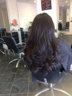 Long hair bouncy blow wave