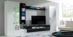 HomeDirectLTD Schrankwand Eric Home … - Renovieren Bathroom Medicine Cabinet, Home, Tv Wall Cabinets, Sweet Home, Cabinet, Tv Unit, Furniture, Black Rooms, Room