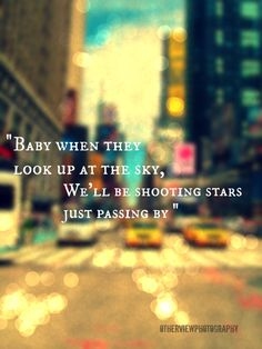 """Baby when they look up at the sky, We'll be shooting stars just passing by""~Demi Lovato's ""Neon Lights"" City Quotes, Shooting Stars, Demi Lovato, Looking Up, Song Lyrics, Photo Editing, Fangirl, Inspirational Quotes, Nyc"
