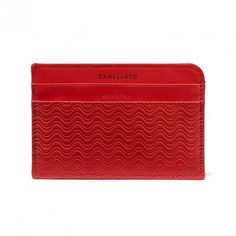 Business Card Ore 24:00 - Cachemire Blandine col. Cardinale (Red) slim and light  #Cardholder  #blandineprint