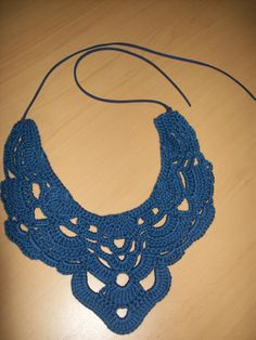 Crochet necklace. Pattern found somewhere on the internet