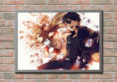 Sword Art Online Kirito Asuna Anime Manga Game by masterofposter