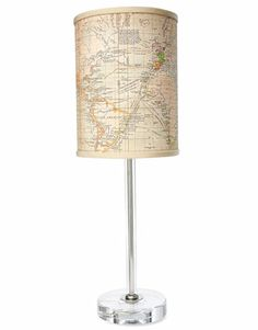 Maps as lamp shades - sweet! I feel like I need to collect maps, since no one even uses them any more!