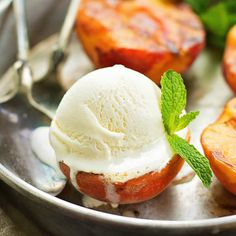 Grilled Peaches with Vanilla Ice Cream | lifemadesimplebakes.com