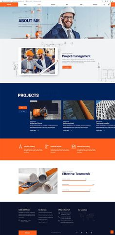 Wilmër - Construction Theme Construct the website with full power – it's easy with Wilmer, a construction WordPress theme. Website Design Inspiration, Best Website Design, Corporate Website Design, Business Web Design, Website Design Layout, Web Layout, Corporate Design, News Website, Website Themes