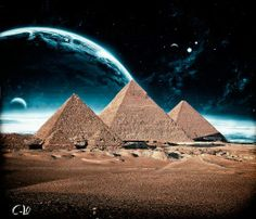 Pyramids of Egypt Fantasy Ancient Aliens, Ancient Egyptian Art, Great Pyramid Of Giza, Egypt Art, Pyramids Of Giza, Moon Photography, Ancient Mysteries, Scenery, Pictures