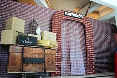 Platform 9 3/4 at The Boy Who Lived--Harry Potter Birthday Party from Kara's Party Ideas. See more at karaspartyideas.com!