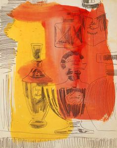 Vintage Andy Warhol art book print Perfume Bottles pop art circa 1962 on Etsy, $5.00