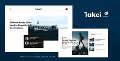 Takei - Blog and Magazine Joomla Theme ⠀ Takei is an indispensable blog & magazine theme with a clean, modern design suitable for everyone who wants to share their stories about today's ever-changing technology, the latest breaking ne... ⠀ # #blogmagazine #cmsthemes #designuptodate #joomla #newseditorial #themeforest #blog #blogger #magazine #creative #personal #minimal #fashion #modern #news #responsive #portfolio #lifestyle #clean #elegant Css Website Templates, Joomla Templates, Corporate Blog, Google Web Font, Grid System, Make Design, Blog Design, Magazine Template, Web Design Inspiration