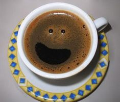 Good Morning! Coffee Smiles! Cute!  http://www.free-extras.com/funny/images/87/coffee+smile.html
