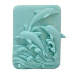 Molde de souvenir, Recuerdo del Mar, pastilla de jabón con delfines, ideal para hacer jabón de aceite,  de glicerina y casero. Disponible en Gran Velada. Hazlo tu mism@.