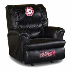 Alabama Crimson Tide Leather Big Daddy Recliner