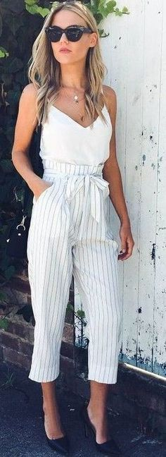 #fall #executive #peonies #outfits |  Comfy and Chic 'High Riser' Jumpsuit